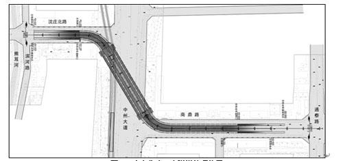 图3为顶管隧道标准段内部结构示意图